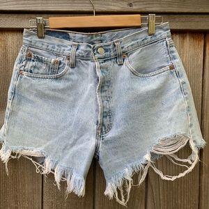 Levi's cutoff shorts. 501, W 32, L 30
